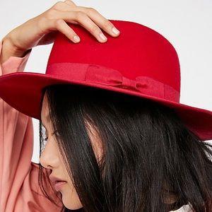 Free People Red Felt Hat